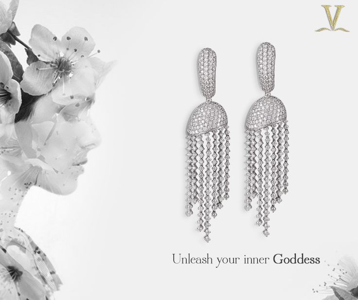Your heavenly style and glamour have no rival, these dazzling diamond danglers are the perfect reflection of your inner Pheme.  #UnleashYourInnerGoddess.