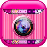Cute Pink Photo Collage Maker: Adorable photo editor for girls with lots of photo frames, background color themes and photo filters by Vladimir Mitic