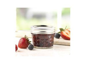 Ball® 4-oz. Quilted Crystal Jelly Jars, Set of 12, freezer safe