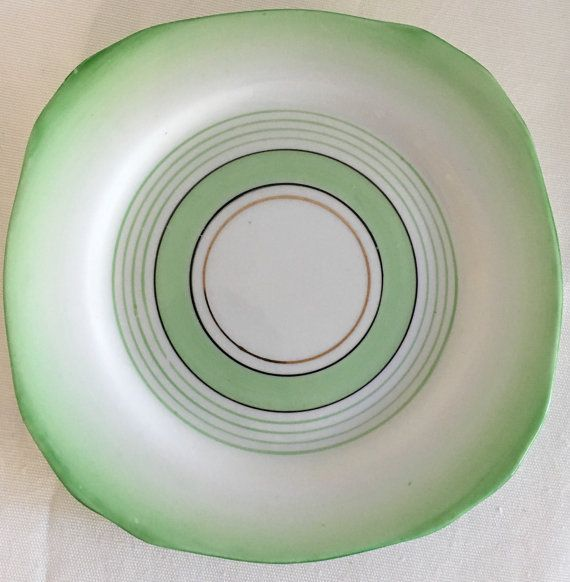Royal Stafford Mint Green Side Plate Art Deco by modernlookvintage