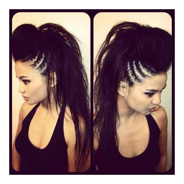 Hairstyles punk, rocker, bad girl ❤ liked on Polyvore featuring beauty products, haircare, hair styling tools, hair, beauty and black hair care
