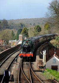 Severn Valley Railway - runs between Kidderminster and Bridgenorth