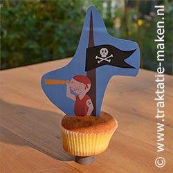 Printable Pirate Cupcake Topper