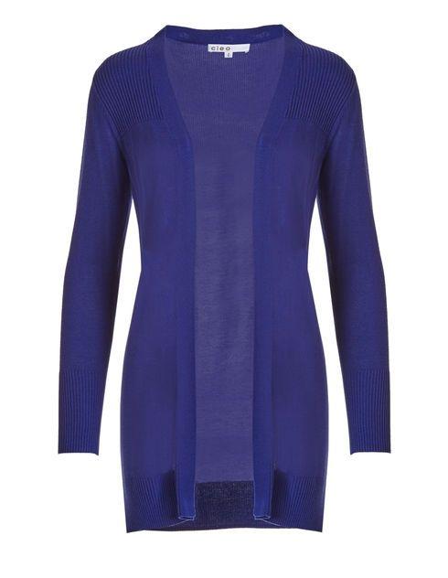 Royal Blue Cardigan Sweater