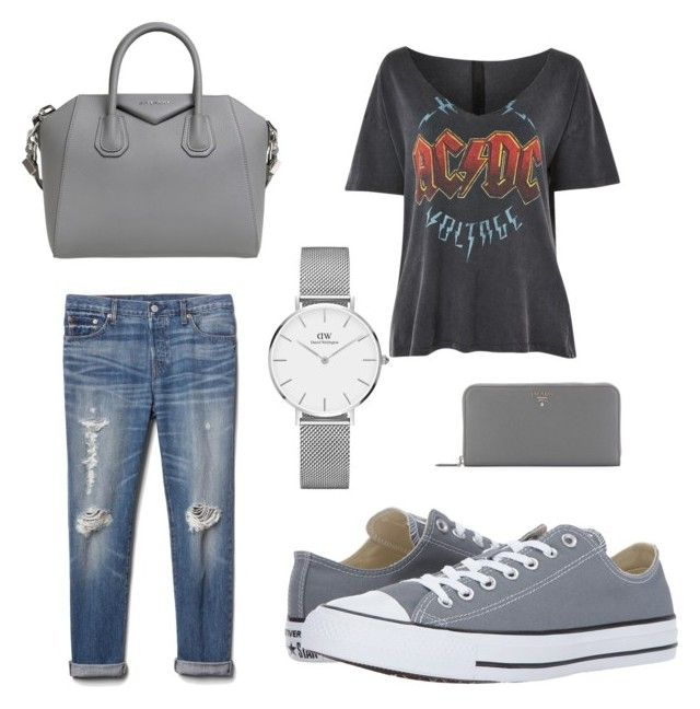"""""""⚡️"""" by iuliacalin on Polyvore featuring Topshop, Gap, Converse, Givenchy, Daniel Wellington and Prada"""