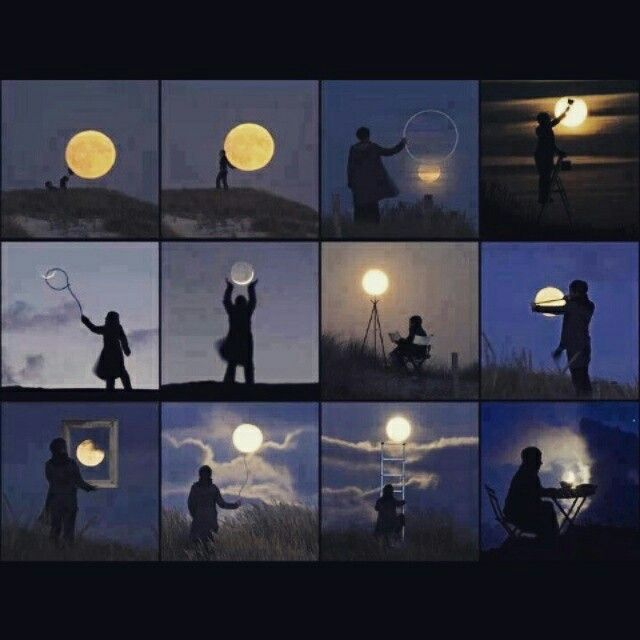 In love with the moon