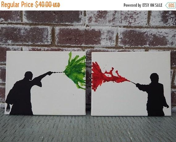 ON SALE NOW Harry Potter Canvas Art Set Harry by TheFacelessWomen