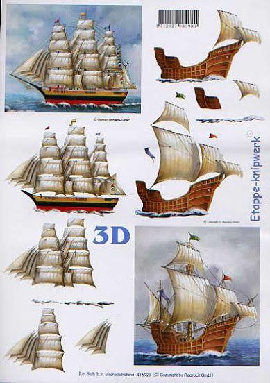 Láminas 3D Tarjetas - Masculine