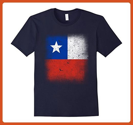 Mens Chilean National Country Flag T-shirt Camiseta Bandera Chile Large Navy - Cities countries flags shirts (*Partner-Link)