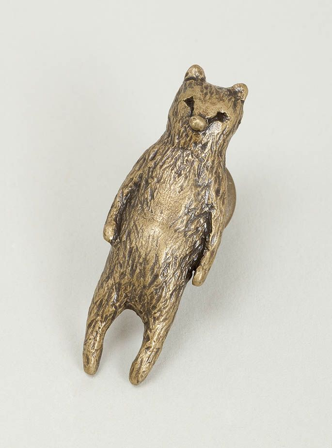 Sebastian Bear Pin by Mina Perhonen. With a name like Sebastian how could this be anything but gorgeous.