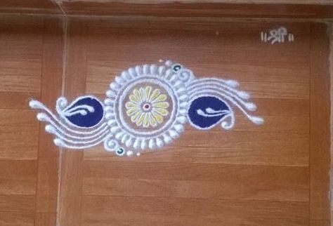 Simple Smsll Rangoli Design                                                                                                                                                     More