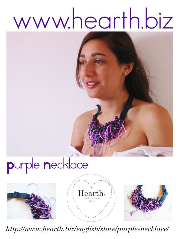 """Purple Necklace by Hearth"" by hearthfashion on Polyvore featuring moda"