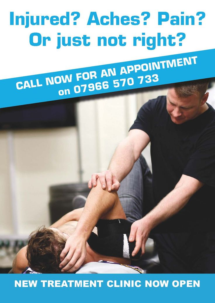 Sports Therapy Scotland flyer page 1.