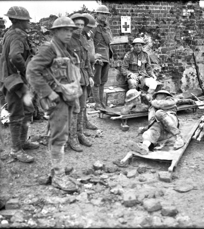 WWI, Aug 1917, Battle of Hill 70; Badly wounded Ca…