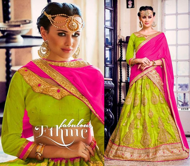 The lehenga made in net with thread embroidery. with designer blouse and dupatta. Be sure to add me to yourfavorites list ! if you need stitching service or else we send unstitched. kindly check the details about item before buying. | eBay!