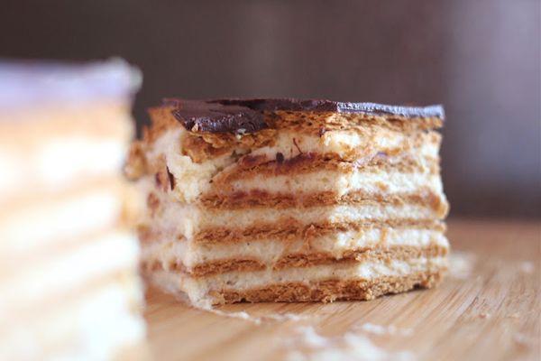 Шоколадный торт-эклер   Любимые рецепты