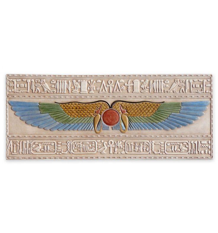 Relieve del Dios Amón-Ra | Relieve egipcio policromado | Artesanía