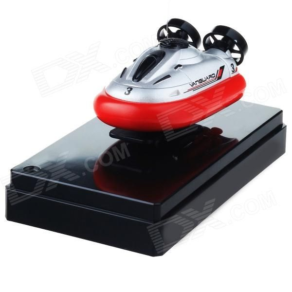 Mini Rechargeable 2-Channel Radio Control R/C Hovercraft Toy - Red + Black