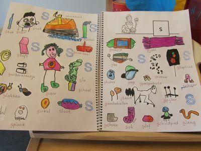 Letterboek: vandaag zoeken we alles met de letter ... Leuk voor in het plakboek!