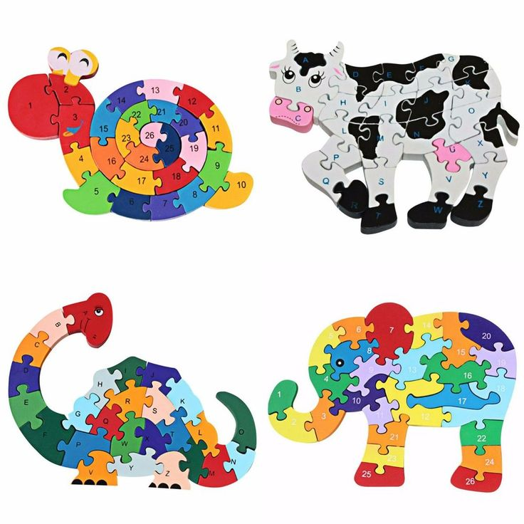 Kids Wood Puzzles Wooden Puzzle Educational Toy Toddler Infant Early Learning #JOCESTYLE #Animal