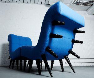 Idée de Cadeau.  Voici deux fauteuil en un. Avec cette sofa sympa, tu pourrais t'asseoir comme tu voudras!