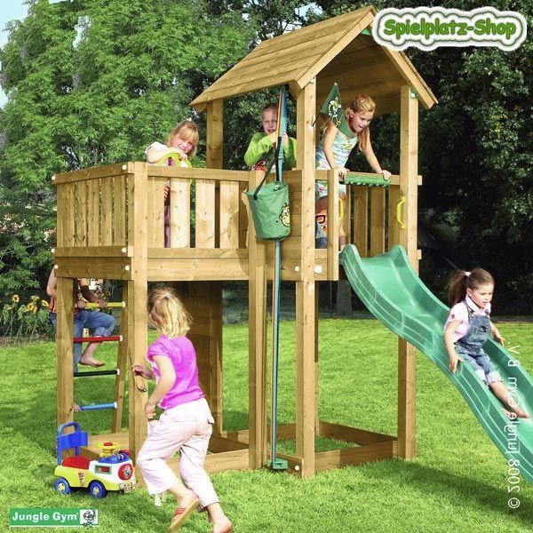 Amazing Spielturm Kletterturm Jungle Gym MANSION mit Rutsche Sandkasten Kletterwand und Spielzeug Aufzug