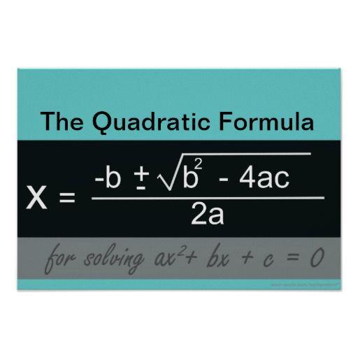 23 best Quadratic Equation Math Posters images on Pinterest ...