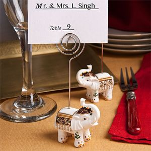 Wedding Favors & Party Supplies - Favors and Flowers :: Wedding Favor Themes :: Asian Theme Wedding Favors :: Lucky Elephant Place Card Holder