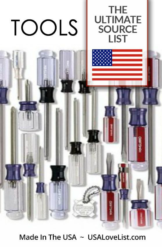 Ultimate source list of tools made in the USA.