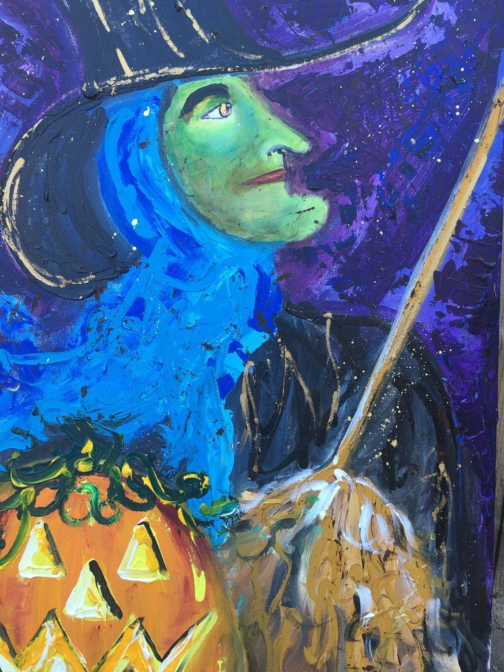 Original Halloween Witch Painting IMG_2098.JPG