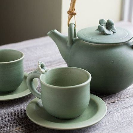 Balinese Ceramic Tea Set for Two – Yoga International