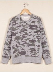 Universal Works Camo Sweatshirt in Loopback Sweat