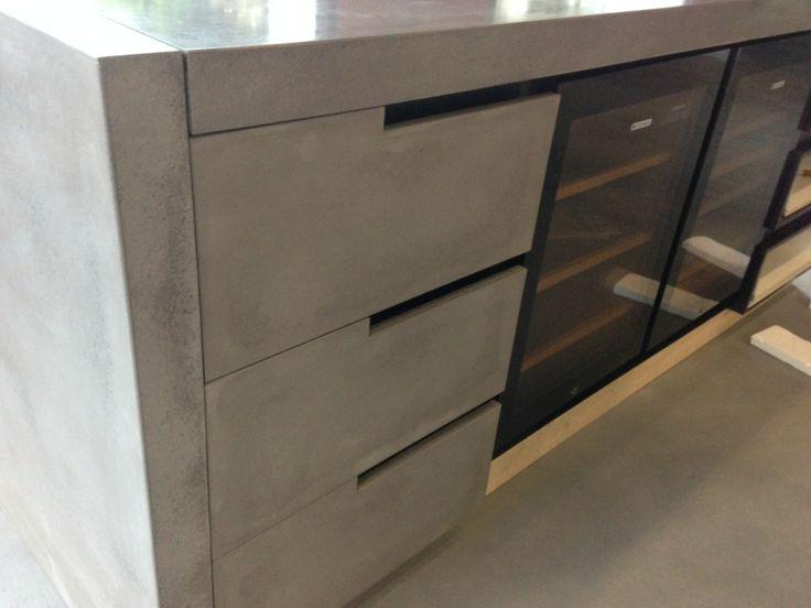 Concrete drawer fronts by POPconcrete