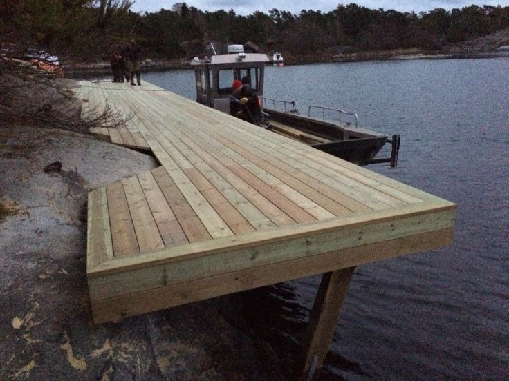 Red Mount AB built this jetty for Sjöliv client - KSSS next to Sandhamn. Stockholm Archipelago. 0046700534688. janis@redmount.se