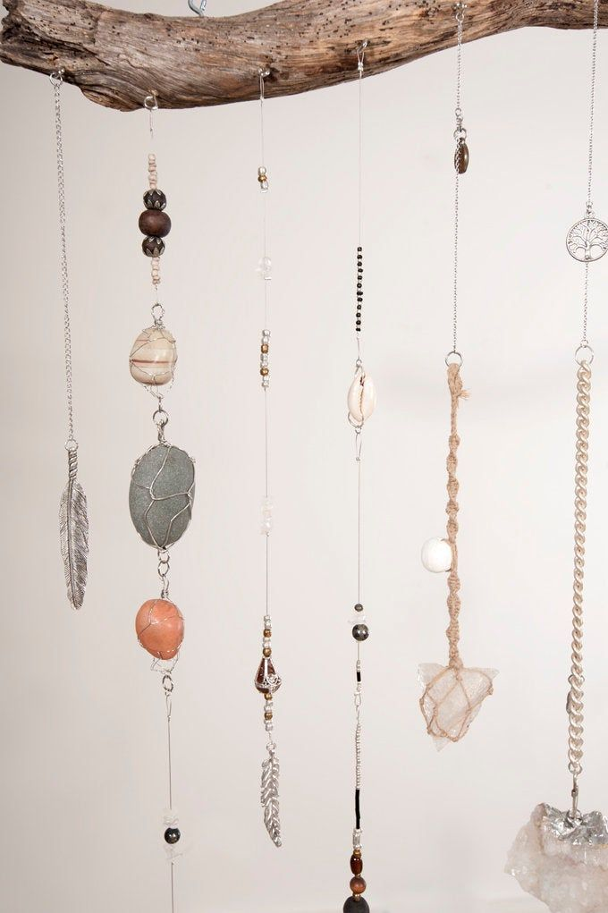 Earthy Toned Crystal Wall Hanging Reserved For Perla Etsy In 2020 Hanging Crystals Decor Crystal Wall Earthy Decor