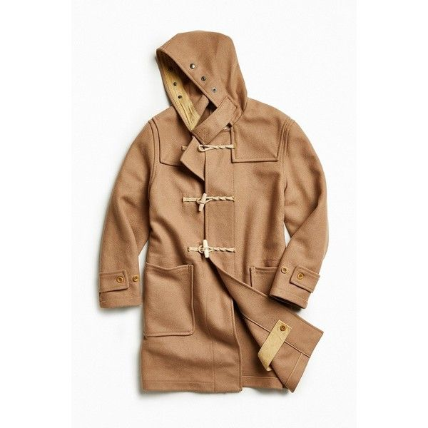 Gloverall X UO Wool Duffle Coat (6.477.575 IDR) ❤ liked on Polyvore featuring men's fashion, men's clothing, men's outerwear, men's coats, mens wool toggle coat, mens hooded wool coat, mens wool coat, mens hooded coats and mens wool duffle coat