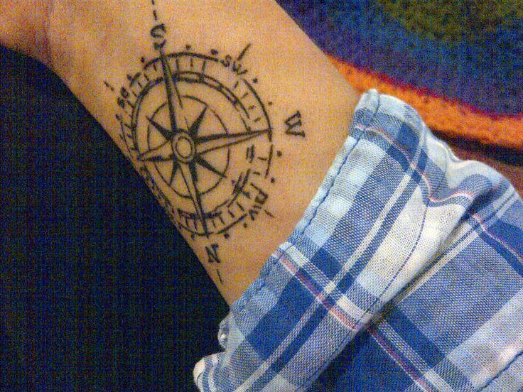 tattoo – Kompass und Nordamerika. vol 6087 | Fashion & Bilder