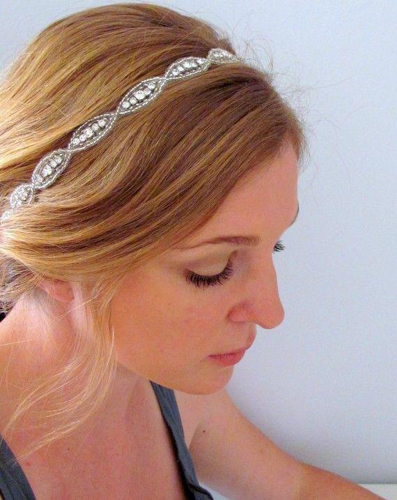 rhinestone headband, diadema para novia Peinado para novia / tocado de novia / boda