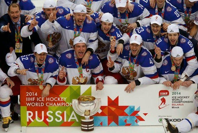 Blog Esportivo do Suiço: Rússia é campeã mundial de hóquei no gelo pela 5ª vez