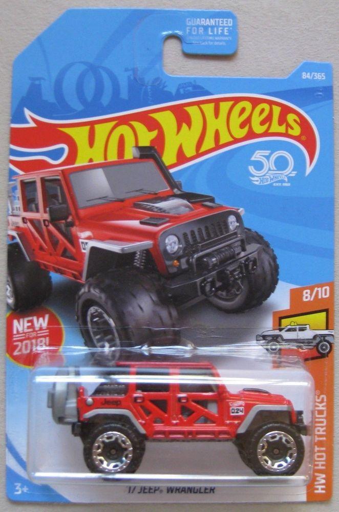 Hot Wheels 2018 Hw Hot Trucks 17 Jeep Wrangler Unlimited 8 10 84