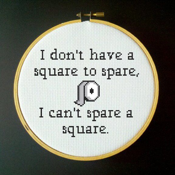 SEINFELD Elaine  I Can't Spare a Square  PDF Cross by LadyBeta, $3.00