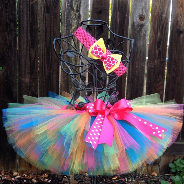Rainbow Tutu, Rainbow Birthday Party, Candy Party, Girls Toddler Baby Tutu