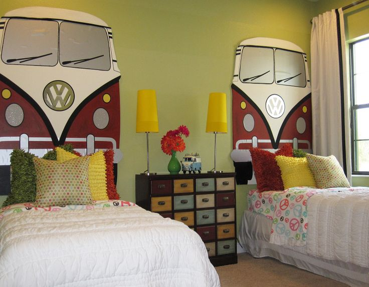 Vw bug design ideas pictures remodel and decor this is not really for eric but i love the vw bus themed headboards