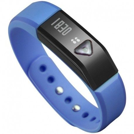 Vidonn Oled Smart Wristband Bracelet with Sports & Sleep Tracking IP67 Bluetooth V4.0 for IOS & Android - X5 - Blue Model  VNSE01BL Condition  New  Vidonn Wristband termurah hanya di Gudang Gadget Murah. Vidonn smart bracelet is a wearable smart devices, containing three-dimensional motion sensor, vibration motors.Users can record real-time exercise and slepping data everyday with bracelet. It can be synchronized with a Bluetooth smartphone or PC - Blue