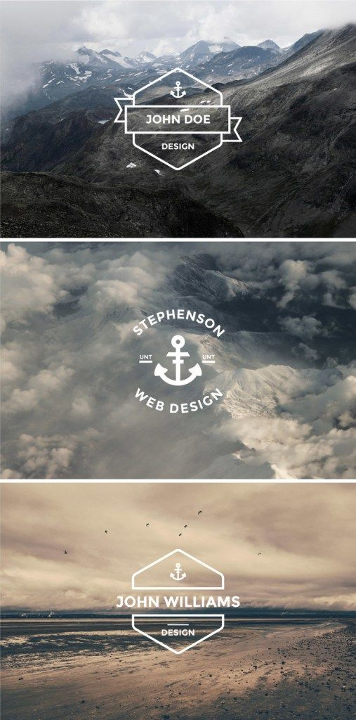 13 Free Vector Hipster Logo Template Sets