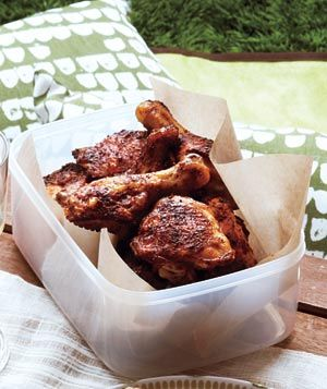 Sweet and Spicy Chicken|A rub made from chili powder, brown sugar, and oregano makes roast chicken sing.