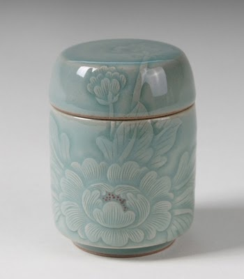 Celedon Tea Caddy