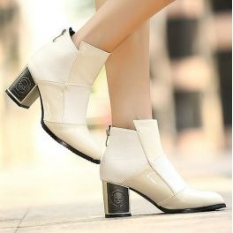 Block Stitch fashion Boots (In 3 Colors)