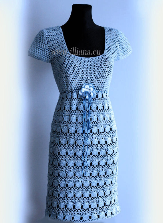 Crocheted Dress Made of high quality threads by Illiana on Etsy