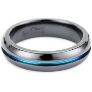 Titanium men's ring with carbon inlay http://www.amazon.com/gp/aw/d/B0046XRSHU/ref=mw_dp_sim_ss2?pi=SX125